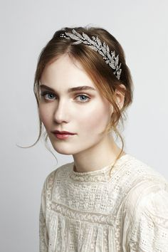 The classic Arielle Headband by Jennifer Behr - the perfect wedding headpiece. Shop the look at www.jenniferbehr.com