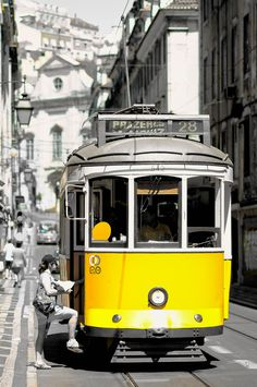 All aboard Lisbon - the mythical tram Visit Portugal, Lisbon Portugal, Countries Around The World, Around The Worlds, Tramway, Ducati Monster, Beautiful Places In The World, Train Tracks, City Streets