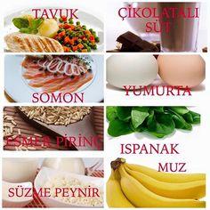 Kas yapmak istiyorsanız işte beslenme listenizde olması gereken 10 besin maddesi bizden söylemesi ;) 1) Yumurta: Her yumurta 6-8 gram arası protein içerir. Aynı zamanda vitamin, çinko, demir ve kalsiyum vardır.  2) Balık yağı: Balık yağı, vücudunuz için önemli bir yardımcıdır. Metabolizmanıza hız kazandırır.  3) Tavuk: Her tavukta 30 ile 100 gram arası protein bulunur.  4) Yulaf: Yulaf sağlıklıdır, lif, protein, mineral ve vitamin deposudur. Mutlaka yulaf tüketin.  5) Araştırmacılar…