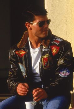 """The stylish Tom Cruise jacket from the movie """"Top Gun"""" now at a very amazing selling price at Xtreemleather. Available in Synthetic and Real leather with Black and Brown Fur Collar. Avail the Top Gun Tom Curies Jacket now. Kelly Mcgillis, Fighter Pilot, Fighter Jets, Pilot Leather Jacket, Leather Jackets, Top Gun Movie, Navy Air Force, Flight Bomber Jacket, Shia Labeouf"""