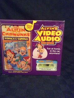 NIP Alvin Chipmunk Video Audio Fun Pack Sing Along Schools Out For Summer