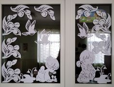 Diy And Crafts, Paper Crafts, Flocking, Art Decor, Home Decor, Paper Art, Windows, Wall, Design