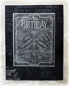Use Tim Holtz brick wall emboss. folder for the back ground.