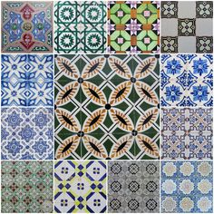Beautiful traditional hand-made tiles from Porto, Portugal.