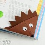 Hedgehog Corner Bookmark – Origami for Kids