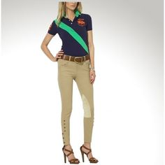 Ralph Lauren Diagonal Stripe Darkblue Green Women Polo [rl 450] - $40.14 : Ralph