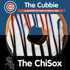 It's time for The Crosstown Cup Series, ChicagolanDD! Do you support the Chicago White Sox or Chicago Cubs? Tell us if you want a ChiSox Donut or The Cubbie Donut, and look for those donuts at a DD near you! Chicago Baseball, Chicago White Sox, Chicago Cubs, Wrigley Field, Donuts, Yummy Food, Drinks, Happy, Frost Donuts