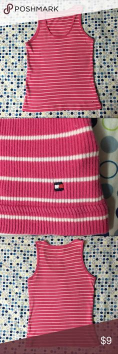 Pink Striped Tommy Hilfiger Tank Top This pink and white striped Tommy Hilfiger tank top is in great condition. Size small. Would be a great addition to any closet. Tommy Hilfiger Tops Tank Tops