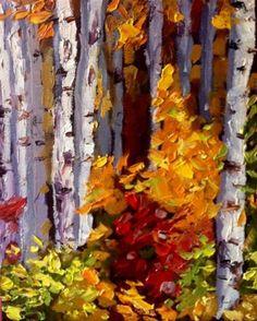 """""""Birch Challenge"""" - Original Fine Art for Sale - © kristen dukat"""