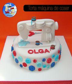 Torta máquina de coser -  Sewing machine cake