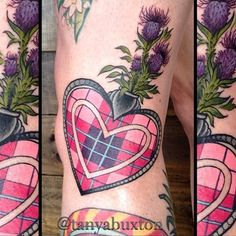 Take a trip to the great Highlands with these tattoos that show solid Scottish pride! Scottish Thistle Tattoo, Scottish Tattoos, Irish Tattoos, Celtic Tattoos, Lace Tattoo Design, Tattoo Designs, Cover Tattoo, I Tattoo, Celtic Tattoo For Women Irish