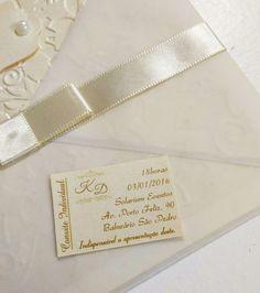 Convite Individual para Festas - Atelier Rosa Mia