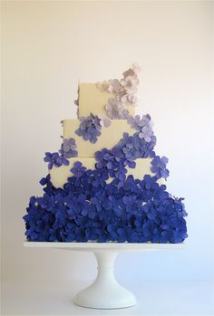 Purple Ombre cake by Maggie Austin. Would like it to be more purple than blue!