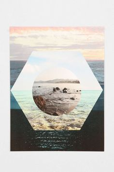 Beach Collage Poster - Urban Outfitters