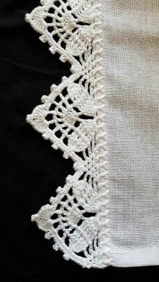 66 ideas for crochet edging lace pattern Crochet Edging Patterns, Crochet Lace Edging, Crochet Motifs, Crochet Borders, Crochet Trim, Filet Crochet, Crochet Designs, Crochet Doilies, Easy Crochet
