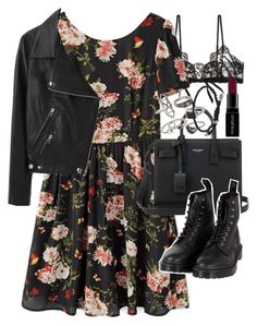 """""""Requested outfit"""" by ferned ❤ liked on Polyvore featuring Hanky Panky, Acne Studios, Yves Saint Laurent, Dr. Martens, Mudd, Smashbox and David Yurman"""