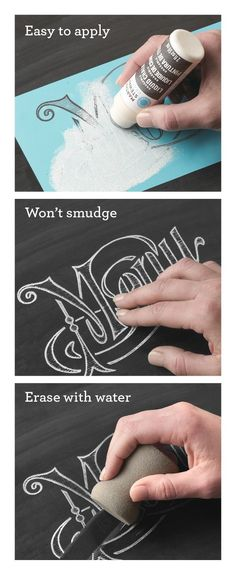 Do something cute on kitchen chalkboard! Martha Stewart Crafts ® Erasable Liquid Chalk - great for DIY chalkboard projects Diy Projects To Try, Crafts To Do, Craft Projects, Arts And Crafts, Furniture Projects, Craft Ideas, Project Ideas, Decor Ideas, Chalkboard Paint Projects