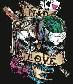 Joker and Harley Quinn Suicide Squad Wallpaper Harley Quinn Tattoo, Joker And Harley Quinn, Héros Dc Comics, Totenkopf Tattoos, Joker Wallpapers, Joker Iphone Wallpaper, Joker Art, Batman Art, Tatoo Art