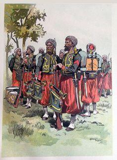 Gravure Zouaves de Garde Impériale 2nd Empire Maurice Toussaint | Soldaademohler