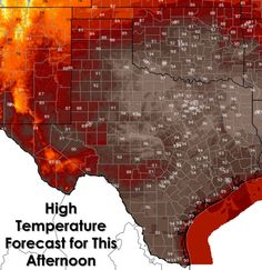 Record heat and near-critical fire danger will continue today across much of Texas. Significant concern exists with fire danger today as humidity values will tank below 20 MPH and winds out of the south will be a bit higher today compared to Wednesday. The good news is a cold front will help drop temperatures considerably by the weekend as we return to fall-like weather. Rain chances are also looking decent by the middle part of next week, perhaps a good widespread rain event