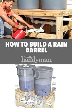 Rainfall and snow in your backyard landscaping – Greenhouse Design Ideas Water Collection System, Rain Collection, Outdoor Projects, Garden Projects, Rainwater Harvesting System, Water Barrel, Water From Air, Water Storage, Water Conservation