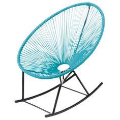 Best Garden rocking chair turquoise COPACABANA Maison du monde