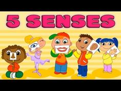 My Five Senses: Taste, Smell, Sight, Hearing, Touch - Kids Learning - By. Spanish Basics, Spanish Lessons, Learning Spanish, Spanish Class, Educational Activities For Kids, Educational Videos, Learning Activities, Five Senses Preschool, My Five Senses