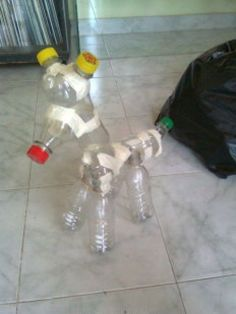Cool Paper Mache Crafts To Amaze Everyone Paper Mache Projects, Paper Mache Clay, Paper Mache Crafts, Paper Mache Sculpture, Paper Clay, Paper Art, Plastic Bottle Flowers, Plastic Bottle Crafts, Plastic Bottles