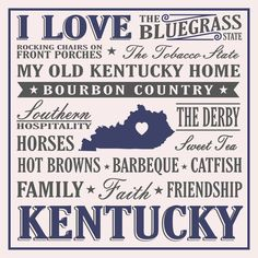 Show your love for Kentucky with this Bluegrass State sign. This sign features just a few things that makes Kentucky such a special place to live, work, and play! Proudly Made in the USA. We proudly o