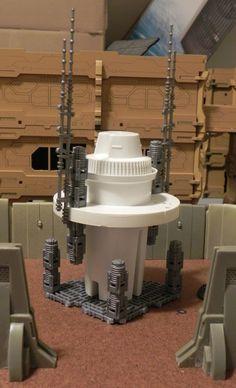 Communication tower : Brita Filter, smoke detector part, Pegasus Games bits :