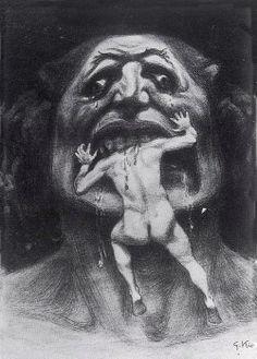 Giorgio Kienerk (1869-1948) Lucifero, c 1897-1900