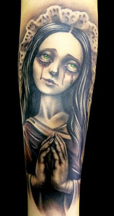 Realistic 2 colors Cartoon tattoo art by Demon Tattoo Great Tattoos, Beautiful Tattoos, Beautiful Body, Tattoo Images, Tattoo Photos, Johnny Depp, Cartoon Tattoos, Horror Tattoos, Female Demons