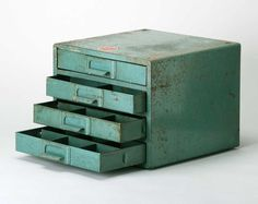 Reserved do not buy  Vintage Industrial Green Parts cabinet... $60.00, via Etsy.