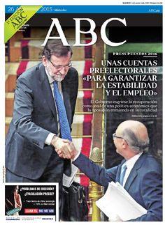 La portada de ABC del miércoles 26 de agosto