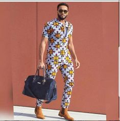 Pictures of our most lovely ankara styles of all time for every beautiful lady out here. Some try these lovely ankara styles African Shirts For Men, African Dresses Men, African Attire For Men, African Clothing For Men, African Fashion Ankara, African Print Fashion, African Wear, Mens Clothing Styles, African Fashion For Men