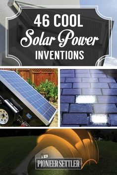 Cool Solar Powered Inventions