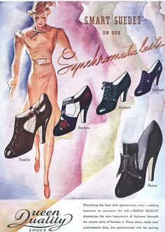Ad for Queen Quality Shoes, 1937 by Silverbluestar, via Flickr