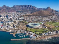 Cape Town Helicopters trip: Cape Town stadium and Green Point Park World Cities, Am Meer, Travel Info, Africa Travel, Far Away, Cape Town, South Africa, City Photo, Things To Do