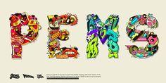 P.E.M.S Font illustrations by Pems Lou