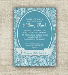 Boy Baby Shower Invitations Digital Printable by CardtopiaDesigns, $13.50