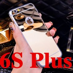 High Quality Fashion Deluxe Electroplating Mirror TPU Clear Soft Phone Case Cover for iPhone 4 4S 5 5S 6S 6 7 Plus Case Cover