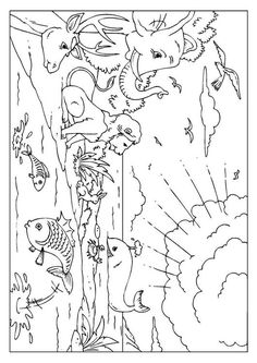 The First Day Of Creation Coloring Pages