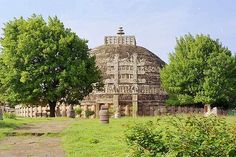 Sanchi Stupa, which contained the relics of Buddha.