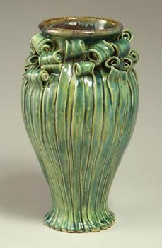 ~ The Grove Park Inn Arts & Crafts Conference ~ Asheville, North Carolina ~ February 21 - 23, 2014.  Fiddlehead stoneware vase. Turtle Island Pottery.