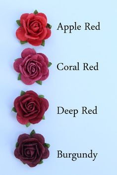 Red rose flower embellishments – decorations for favors, cards, thank you tags, gift tags, wedding decorations and more – Best Wedding Ceremony Ideas Red Rose Flower, Red Roses, Blue Roses Wedding, Color Combinations For Clothes, Blue Rose Tattoos, Color Psychology, Psychology Meaning, Psychology Facts, Pallets