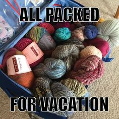 My husband knows that I actually pack like this!