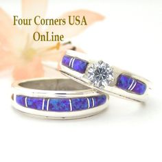 Four Corners USA Online - Size 8 Engagement Bridal Wedding Ring Set Purple Fire Opal Native American Silver Jewelry WS-1490, $225.00 (http://stores.fourcornersusaonline.com/size-8-engagement-bridal-wedding-ring-set-purple-fire-opal-native-american-silver-jewelry-ws-1490/)