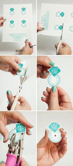 DIY - Bachelorette Party Hair Tie Favors + free printable!