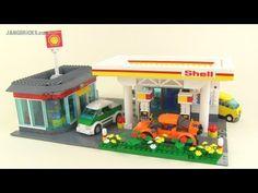 Custom LEGO Shell gas station & car wash MOC