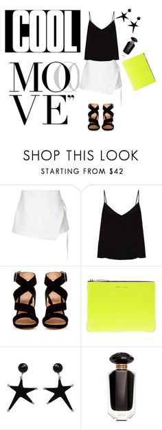 """""""Cool Move"""" by lifestylestories ❤ liked on Polyvore featuring Dion Lee, Raey, Gianvito Rossi, Comme des Garçons and Victoria's Secret"""